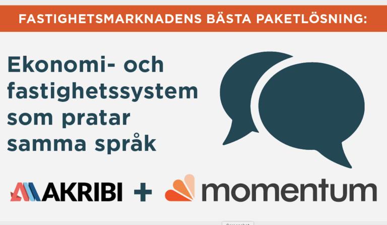 Akribi och Momentum lanserar helhetslösning för fastighetsbolag